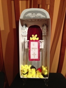 il Peep-a. My entry to this years peep diorama contest in honor of the new kid on the Papal block.