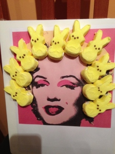 Joy's entry. Pop art Peeps.